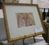 Leaning Nude - Conte & Pastel on arcival paper with custom framing