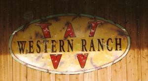 Sign hanging at final location... After the rusting and aging the sign was shot up with buck shot & bullet holes